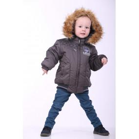Куртка осень-зима для мальчика 12-ЗМ-24 (т.серый, 98-116 см)