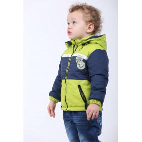 Куртка SPORT демисезонная для мальчика (синий-салатовый), TM