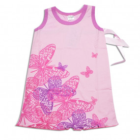Сарафан дизайнерский Бабочки (розовый), ТМ YALOO KIDS