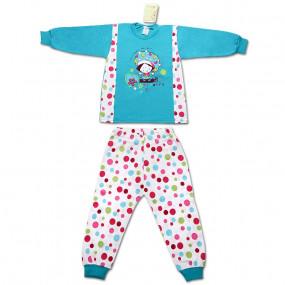 Пижамка для девочки POLKA DOTS, бирюза
