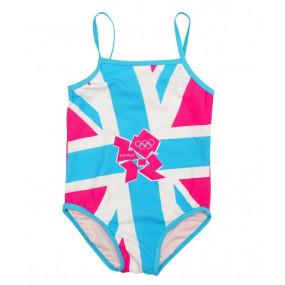 Купальник для девочки Team GB (олимпиада), бирюза