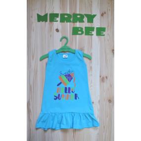 "Сарафан д/девочки ""Hello Summer"" стрейч-кулир р-р 92-122 ТМ""Merry Bee"""