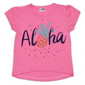 "Футболка д/девочки ""Aloha"" фламли р-р 116-128 ТМ""Merry Bee"""