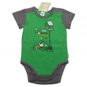 Боди с коротким рукавом для мальчика (супрем), зелёный