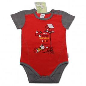 Боди с коротким рукавом для мальчика (супрем), красный