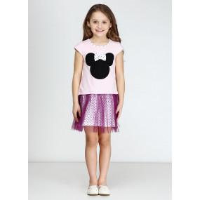 Платье МИККИ летнее (розовый, фиолет)