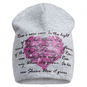 Демисезонная шапочка для девочки Roses Heart (премиум качество)