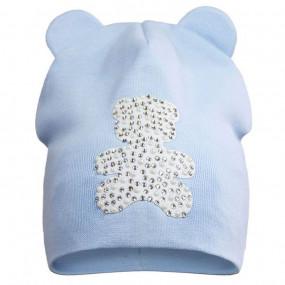 Демисезонная шапочка Teddy bear (премиум качество)