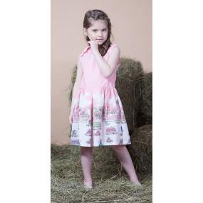 Платье ГОРОДА (поплин), розовый