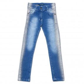 Джинсы Стиль для девочки (джинс-коттон, напыление) Eskoberry