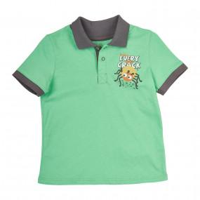Поло для мальчика BUGS (супрем), зелёный