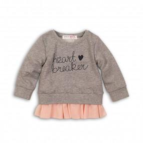 Свитшот для малышек (Англия) серый с фатином