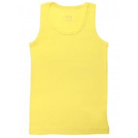Майка однотонная (рибана) жёлтый, р.110-122
