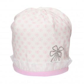 Демисезонная шапочка для девочки Sweet bambino (премиум), хлопок