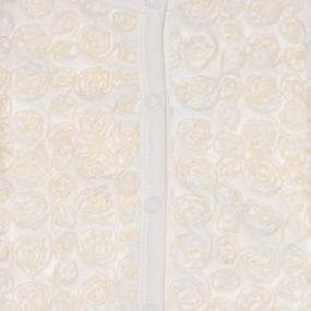 Комплект нарядный Розочка (2 предмета), интерлок молочный 68-80