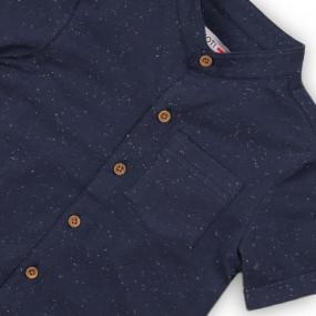 Рубашка 2371 (тёмно-синий в крапинку)
