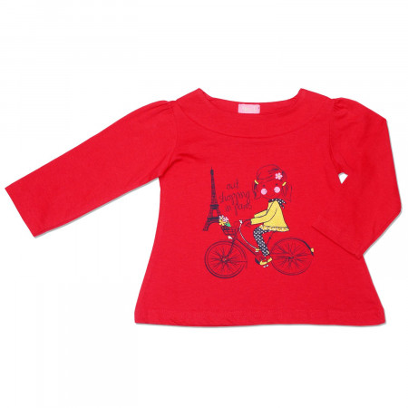 Реглан PARIS (Minoti) для девочки, красный