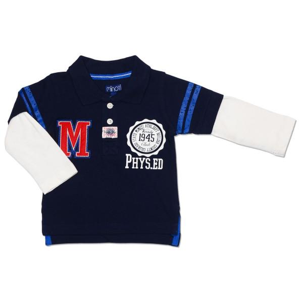 "Поло с двойным рукавом для мальчика ""Minoti"", синий"