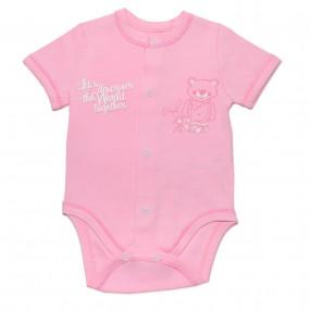 Боди летний однотонный БД59б (100% хлопок супрем), розовый