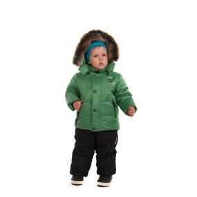 Куртка зимняя Goldy для мальчика, с подстежкой из овчины (бутылочный зеленый)