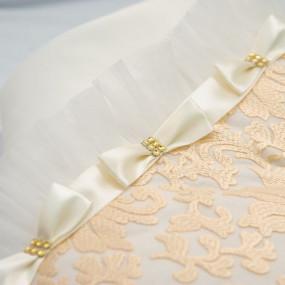 Конверт-одеяло Сяйво атлас-гипюр (зимний), молочный 80 х 80 см