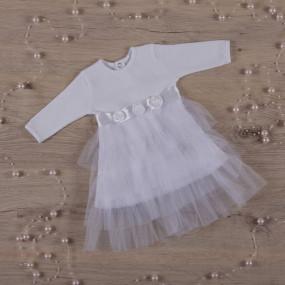 """Платье для фотосессии """"Нежность"""" дл. рукав (белый интерлок"""