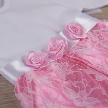 """Плаття """"Фея"""" (интерлок/гипюр), розовое"""