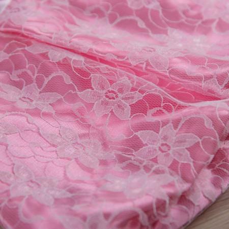 """Плаття """"Фея"""" (интерлок и гипюр), нежно-розовое"""