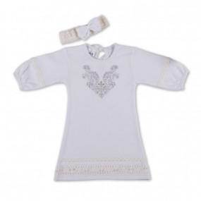 "Сорочка крестильная для девочек ""Чарівність"" + повязка"
