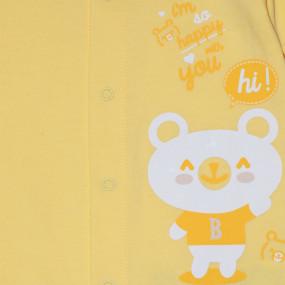 Человечек байковый (КБ77) жёлтый