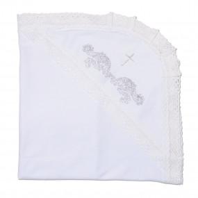"""Крижма """"Чарівність"""" з вишивкою Білий Інтерлок 75*100 см"""