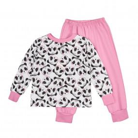 Пижама байковая (ПЖ42), розовые панды