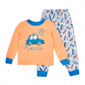 Пижама тёплая (КП206), оранж