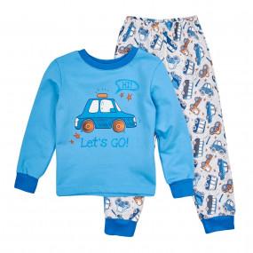 Пижама тёплая (КП206), голубой