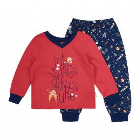 Пижама байковая (ПЖ41), красный