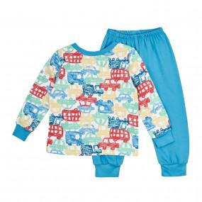 Пижама байковая (ПЖ41), голубой
