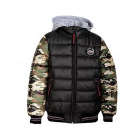 Куртка деми OUTDOOR (10-ВМ-19) чёрный/камуфляж