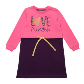 ПЛ-55 PRINCESS Love, двунитка - 100% хлопок (фиолет)