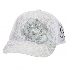 Кепка для девочки Bohemian Rose (дизайнерская линия), silver