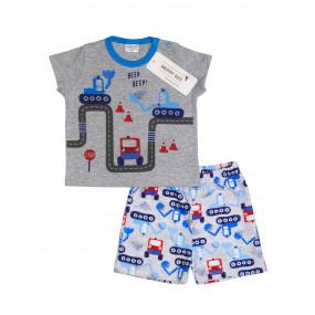 """Комплект """"Kids Transport"""" кулир (футболка, шорты)"""