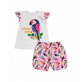"Комплект ""Funny Birds"" кулир (майка, шорты)"