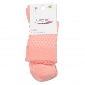 Носки ажурные UCS (хлопок-жаккард), персик