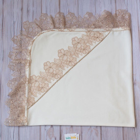 Уголок Фиалка интерлок (молочный/золото) 90 х 90 см