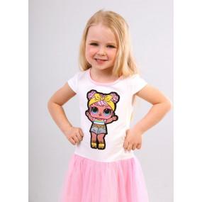 Платье LOL Пинки, короткий рукав (молочный)