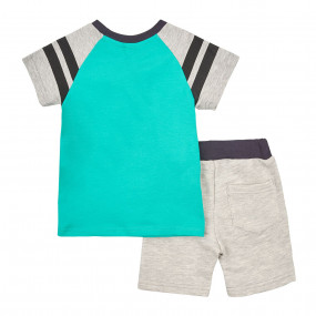 Комплект КС597 с прочными шортами, зелёный
