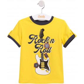 Комплект КС596 с тонкими шортами, жёлтый