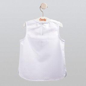 Блуза нарядная (ФБ547) премиум, хлопок/вуаль
