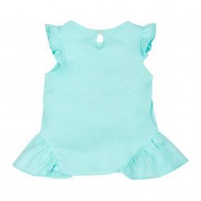 """Блуза 110510 ментол """"Цветочная феерия"""""""