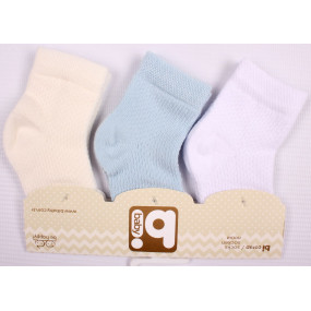 Набор ажурных носочков для новорожденного мальчика (3 шт.)