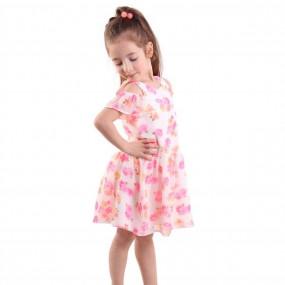Шифоновое платье на хлопковом подкладе (молния по спинке)